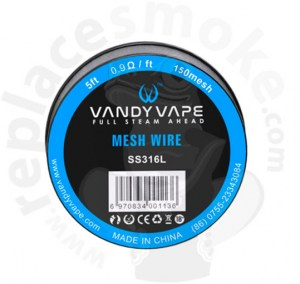 5ft Vandyvape SS316 Mesh Wire 150mesh