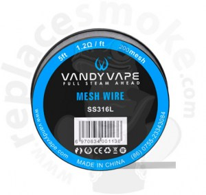 5ft Vandyvape SS316 Mesh Wire 200mesh