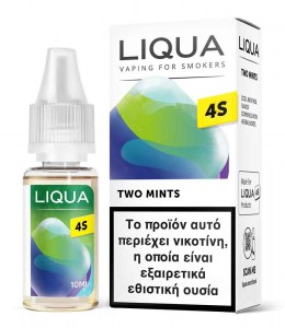 Υγρό αναπλήρωσης Liqua 4S Two Mints Hybrid Salt 10ml 20mg