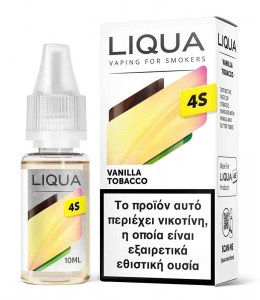 Υγρό αναπλήρωσης Liqua 4S Vanilla Tobacco Hybrid Salt 10ml 20mg
