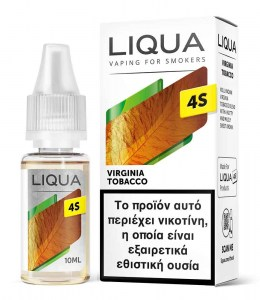 Υγρό αναπλήρωσης Liqua 4S Virginia Tobacco Hybrid Salt 10ml 20mg