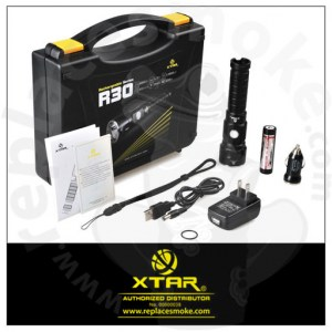XTAR R30 1000lm Rechargeable Flashlight Full Set